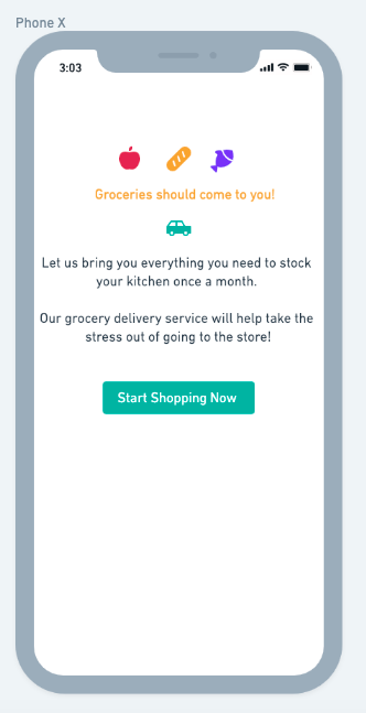 UX grocery example